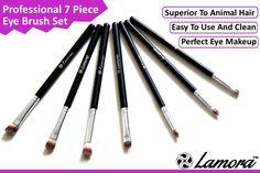 Make-Up Pinselset Kosmetik zum Auftragen von Augen Makeup - 7 Teiliges Lidschattenpinsel Set - Premium Schminkpinsel Set - Super Geschenkidee - Angebotspreis nur für kurze Zeit!