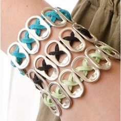 Pop Top Bracelets ~ via GreenCraft Magazine Winter 2014