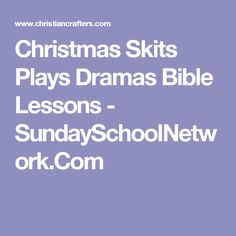 Christmas Skits And Plays For Church
