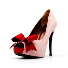 Womans Shoes High heel Peep Toe Pumps with Bow by ChristyNgShoes