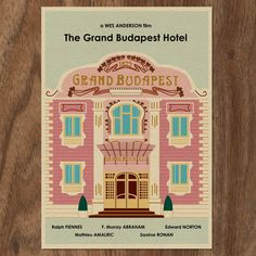 The GRAND BUDAPEST HOTEL 16x12 Wes Anderson Movie Poster Print