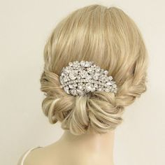 Wedding Rhinstone Hair Comb Tiara Wedding Accessory by Annamall, $21.99