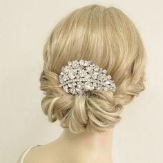 Rhinstone cheveux peigne diadème accessoire de mariage par Annamall, $21.99
