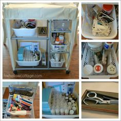 Cheap and Easy {no frills} Craft Supply Storage | #Organized #Craft Supplies