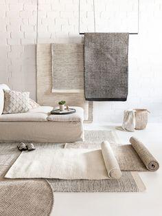 Taupe Living Room, Living Room Carpet, Rugs In Living Room, Living Room Interior, Living Spaces, White Lounge, Massage Room, Simple Elegance, Wool Rug