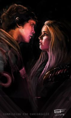 from deviant art the best bellarke fan-art I've seen