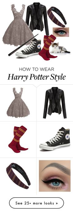 """Harry Potter Inspired"" by goblincat5150 on Polyvore featuring Miss Selfridge and Converse"