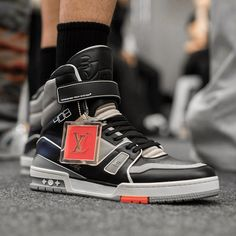 "1ac77d65a09ac Sneaker News on Instagram  ""Virgil Abloh s Louis Vuitton Sneaker is being  spotted all over  ParisFashionWeek. Hmmm...which Air Jordan do you think  Virgil ..."