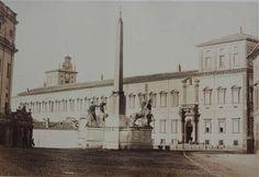 1858/62 Cuccioni Tommaso . Piazza di Monte Cavallo e palazzo del Quirinale