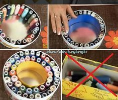 Awesome 10 sewing hacks projects are offered on our website. look at this and you wont be sorry you did. Sewing Room Storage, Sewing Room Organization, Craft Room Storage, Storage Boxes, Thread Storage, Organization Ideas, Organizing, Diy Home Crafts, Sewing Crafts