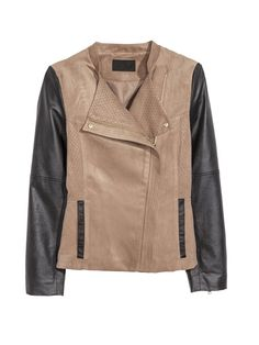 Sale 20% (23.39$) - Women Casual Long Sleeve Stand Collar Chammy Short Motorcycle Jacket