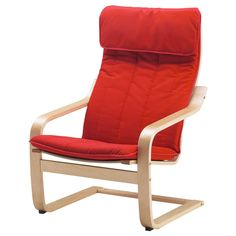 IKEA   POÄNG, Armchair Cushion, Alme Medium Red, , The Cover Is Easy To  Keep Clean As It Is Removable And Can Be Machine Washed.