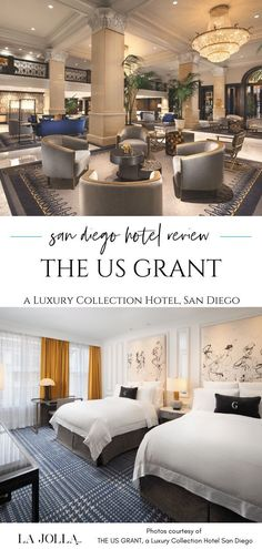 THE US GRANT, a Luxury Collection Hotel San Diego review with how to choose rooms, dining, location. Get all the details here at La Jolla Mom
