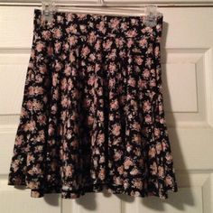 Urban Outfitters Floral Skater Skirt Flowy floral skirt from UO, barley worn! Urban Outfitters Skirts Circle & Skater
