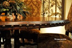 Toscana Large Round Dining Room Table