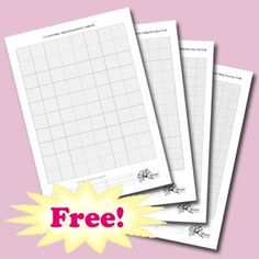 Free blank cross stitch grids