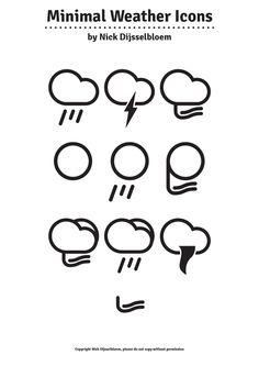 Free Minimal Weather Icons