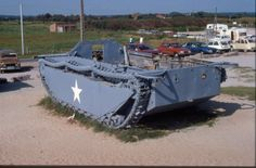 Buffalo amphibious vehicle, rusting away near Omaha beach.