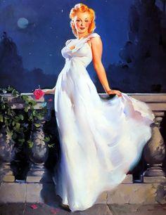 "Gil Elvgren Pin-up Art: ""Dream Girl"" (1945)"