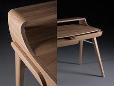 Picard Desk by Regular Company for Artisan Used Office Furniture, Smart Furniture, Furniture Making, Furniture Design, Study Table Designs, Wood Toys Plans, Comfortable Office Chair, Wood Desk, Modern Desk