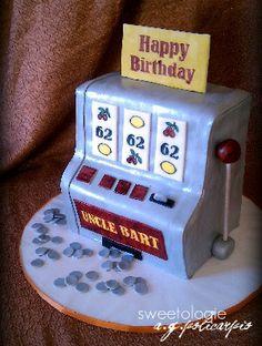 3D Slot Machine Cake by sweetologie.com