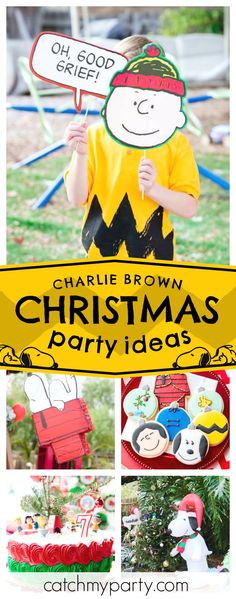 Check out this awesome Charlie Brown Snowy Christmas Birthday Party! The cookies are fantastic!! See more party ideas and share yours at CatchMyParty.com #charliebrown #christmasparty