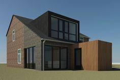 Afbeeldingsresultaat voor aanbouw met verdieping plan