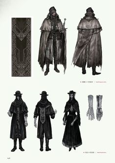Bloodborne Outfits, Bloodborne Characters, Bloodborne Art, Fantasy Characters, Character Concept, Character Art, Concept Art, Monk Dnd, Fantasy World Map
