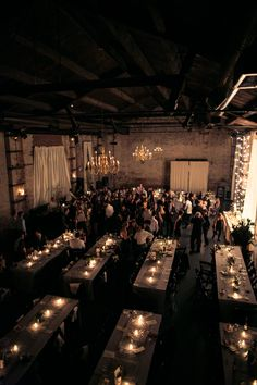 The atmosphere and feel of a space can so transform a wedding. It can take it from industrial venue to cozy, candlelit reception with a cool speakeasy vibe. The Green Building is doing just that with a bit of crafting by Erin Braun, Jazz Wedding, Speakeasy Wedding, Warehouse Wedding, Wedding Reception, Rustic Wedding, Dream Wedding, Restaurant Wedding, Wedding Black, Gothic Wedding Ideas