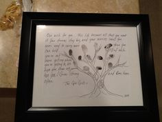 Going Away gift for a coworker  made with all of our fingerprints
