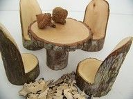 Woodland fairy furniture