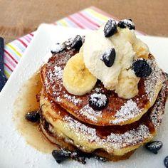 Banana Chocolate Walnut Pancakes by cookingandbeer