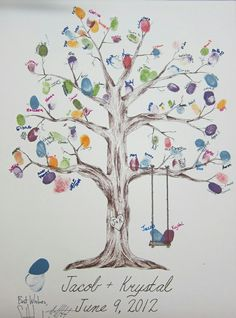 The thumbprint tree – love this idea as a classroom student family tree! The thumbprint tree – love this idea as a classroom student family tree! Wedding Guest Book, Diy Wedding, Wedding Ideas, Family Tree Art, Family Tree Crafts, Fingerprint Art, Tree Templates, Printable Templates, Thumb Prints