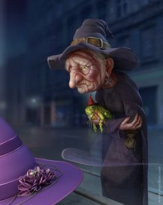 """Old hag by *veprikov on deviantART """"Being a witch is not the highest paying job in the world."""""""