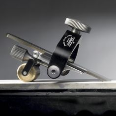 Our HG-1 Honing Guide is the most precise and adjustable Honing Guide on the market. Made of anodized aluminum, stainless steel screws, and a solid brass roller, this precisely machined guide will last a lifetime, probably more!