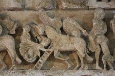 Vézelay Abbey: Central Tympanum Lintel: Pygmies