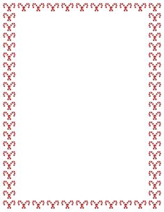 A Christmas-themed border with candy canes. Free image and PDF downloads at http://pageborders.org/download/candy-cane-border/