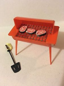 Miniature BBQ Grill 1960's My Merry Dollhouse Furniture Outdoor Grill Renwal   eBay