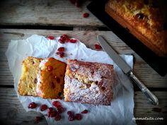 Κέικ μήλο, καρότο, κράνμπερι - συνταγή mamatsita.com Banana Bread, French Toast, Muffin, Food And Drink, Breakfast, Sweet, Desserts, Cranberries, Cakes
