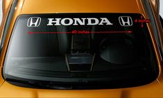 "DEL SOL Honda SI JDM Racing Windshield Banner Vinyl Premium Decal Sticker 40/"""