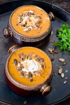 Roasted Carrot and Ginger Soup - a comforting dish for fall days