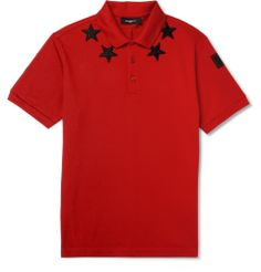 967f18604425 Givenchy - Embroidered Star-Trim Polo Shirt   MR PORTER Polos Designer  Hommes, Chemises