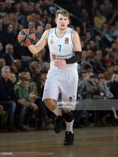 Luka Doncic, #7 of Real Madrid in action during the 2017/2018 Turkish Airlines EuroLeague Regular Season game between FC Barcelona Lassa and Real Madrid at Palau Blaugrana on February 23, 2018 in Barcelona, Spain.