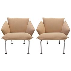 """Pair of """"Vicolounge"""" Chairs by Vico Magistretti for Fritz Hansen 