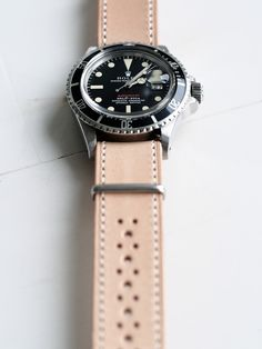 Rolex Red Submariner with eatsleeplay brogues nato strap