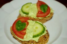Avocado Egg, Avocado Toast, Party Sandwiches, Ham, Zucchini, Food And Drink, Vegetables, Breakfast, Diet