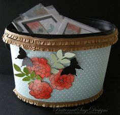 Altered Tastefully Simple Drink Bucket with Stampin' Up! products!  Start saving those buckets ladies!  Butternut Sage Designs....