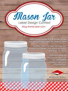 Free printable mason jar labels.  All kinds of wonderful different free printable mason jar labels.