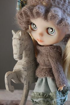 Rose loves the horses by Abi Monroe of Taylor Couture, via Flickr