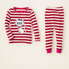 girl - sleep & underwear - cat stripes cotton pjs | Children's Clothing | Kids Clothes | The Children's Place